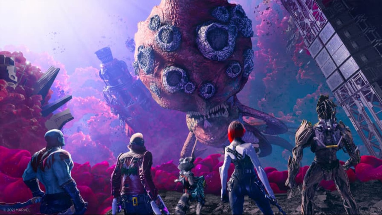 Image showcasing the Guardians preparing for a battle against a fearsome foe