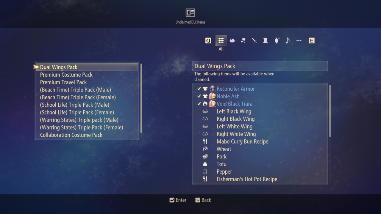 Tales-of-Arise-Deluxe-Ultimate-DLC-Items