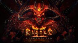 Diablo 2 Resurrected Logo with Diablo