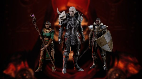 Sorceress, Necromancer and Paladin in Diablo 2: Resurrected