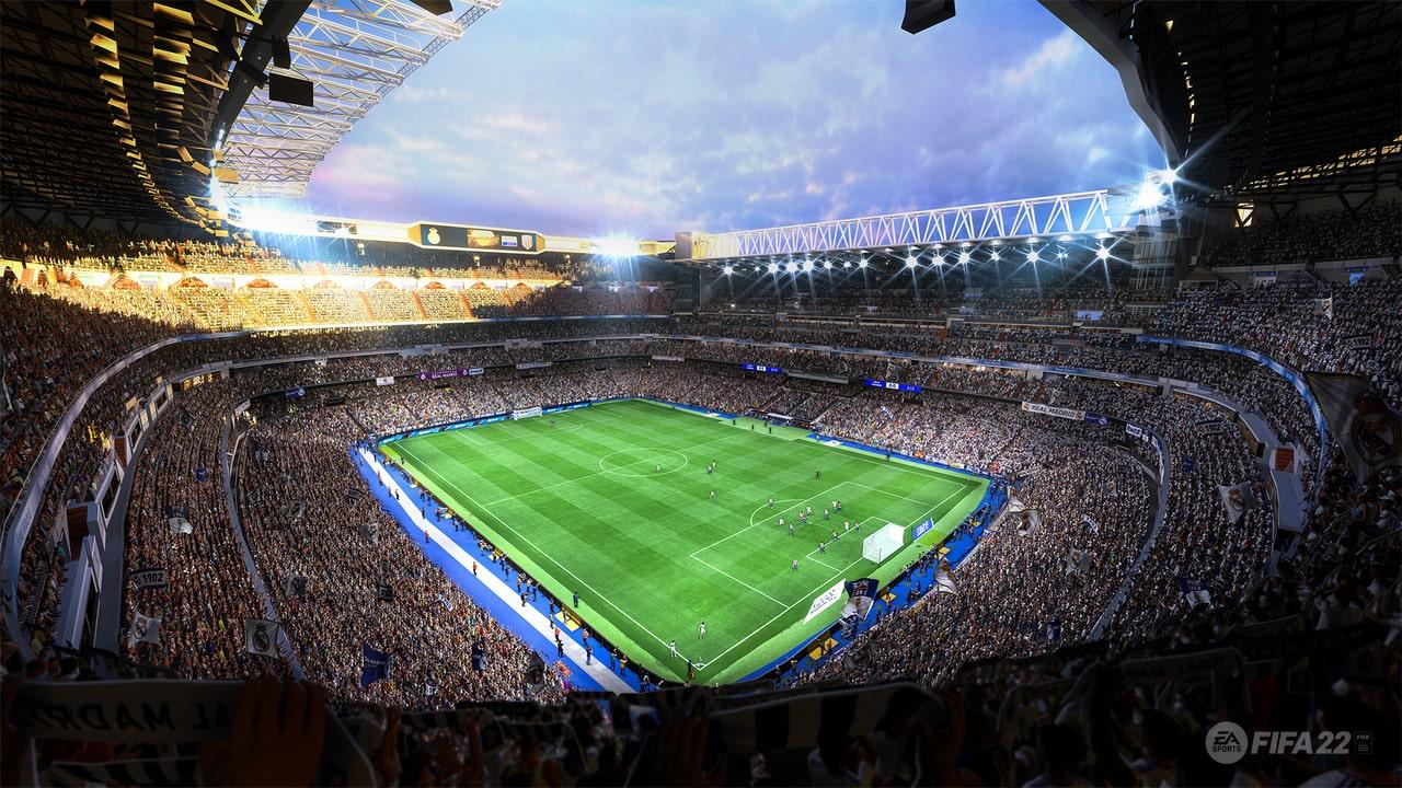 Image showcasing one of FIFA 22's stadiums