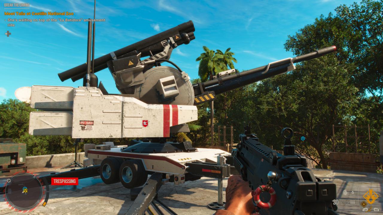 Far Cry 6 Anti Aircraft Cannon