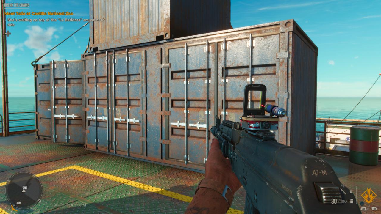 Far Cry 6 GDP Oil Platform Weapon Puzzle