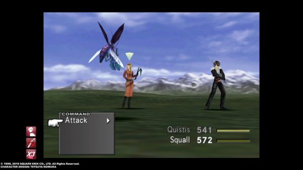 Quistis and Squall fighting an enemy.