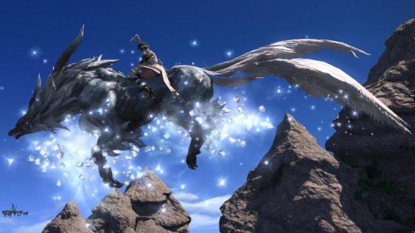 Fenrir Mount in-action Final Fantasy XIV
