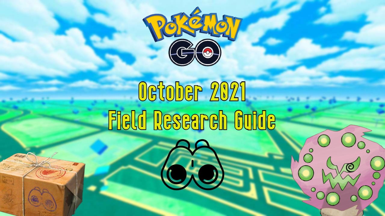 Pokémon Go October 2021 Field Research Guide featuring Spiritomb