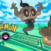 Pumpkaboo and Phantump on a Pokémon GO background