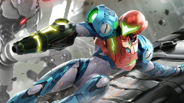 Metroid Dread Samus Sliding