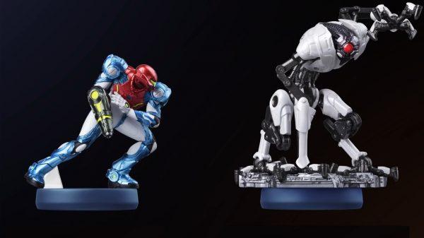Metroid Dread Amiibos for Samus Aran and E.M.M.I.