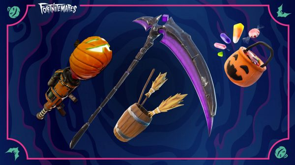 Fortnite pumpkin launcher and witch brooms